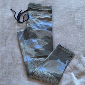 Blue Army Leggings